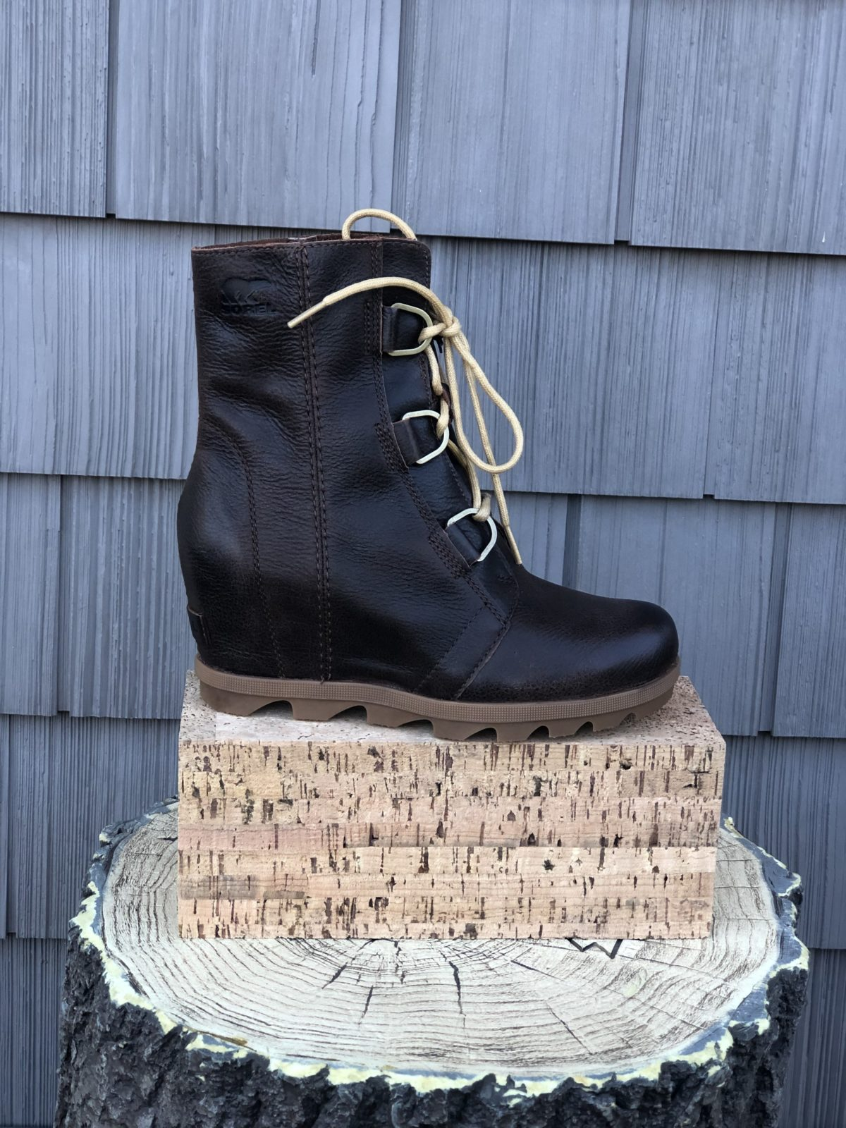 Joan of Arctic Wedge Lace up Brown