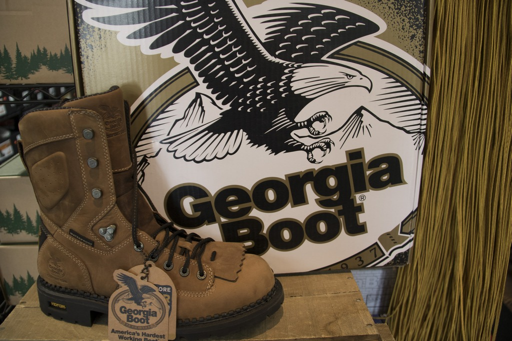Georgia work boots for men! Below Suggested Retail Prices! Timberland, Carhart, Ariat, Rocky, Justin, and more located in Waynesville, NC